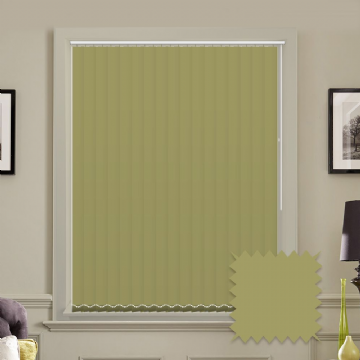 Made to measure vertical blinds in Carnival Willow plain FR / Antibacterial fabric